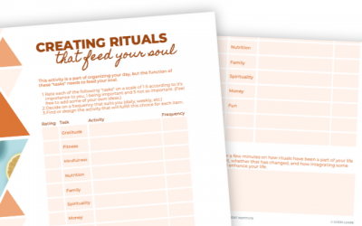 Creating Rituals that Feed Your Soul