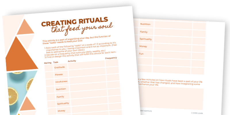 Creating Rituals that Feed Your Soul Promo