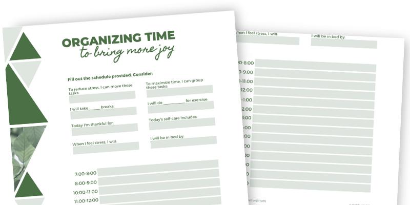 Organizing Time to Bring More Joy