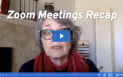 Zoom Meetings Recap